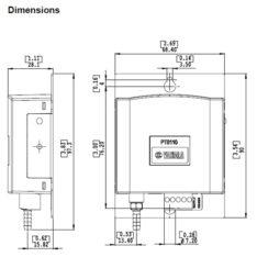 Vaisala PTB110 Dimensions