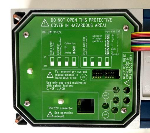 Vaisala HMT360 Dip Switches for calibration etc
