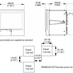 Honeywell MultiTrend SX dimensions