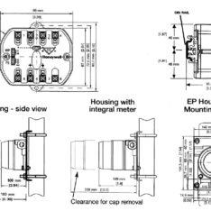 Honeywell STT350 Temperature transmitter dimensions