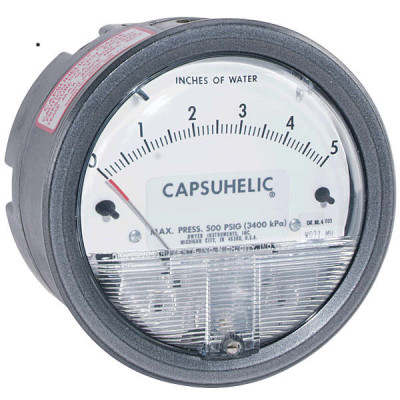 Dwyer Capsuhelic Differential Pressure Gauge