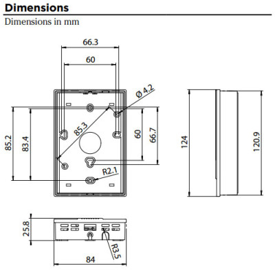 Vaisala GMW115 CO2 Transmitter Dimensions