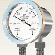 Stewart Buchanan 4503 All Stainless Differential Pressure Gauge