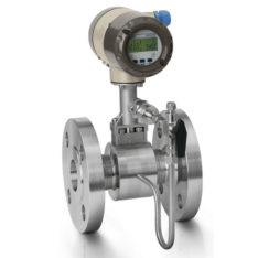 Honeywell Versaflow Vortex shedding flowmeter with pressure compensation and shut off valve