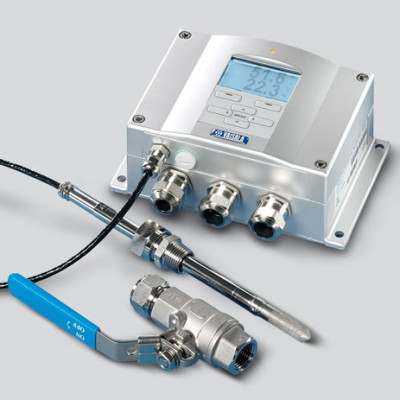 Vaisala DMT340 series dewpoint and temperature transmitter with optional ball valve