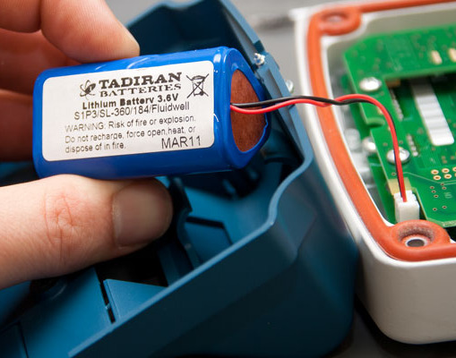 Nixon Flowmeter display long-life lithium battery