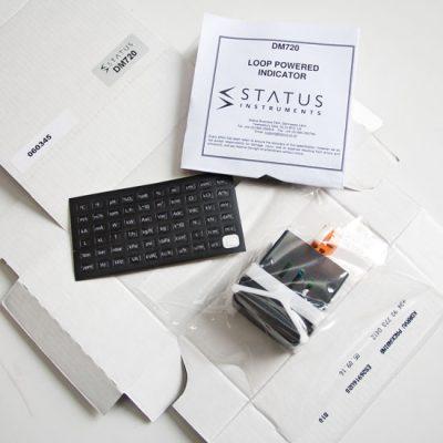 Status DM720 Loop Powered Indicator Box Contents