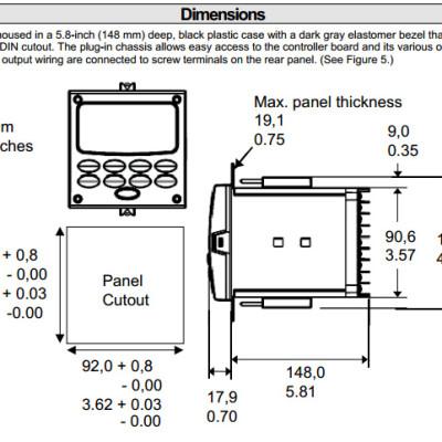 Honeywell UDC3500 Dimensions