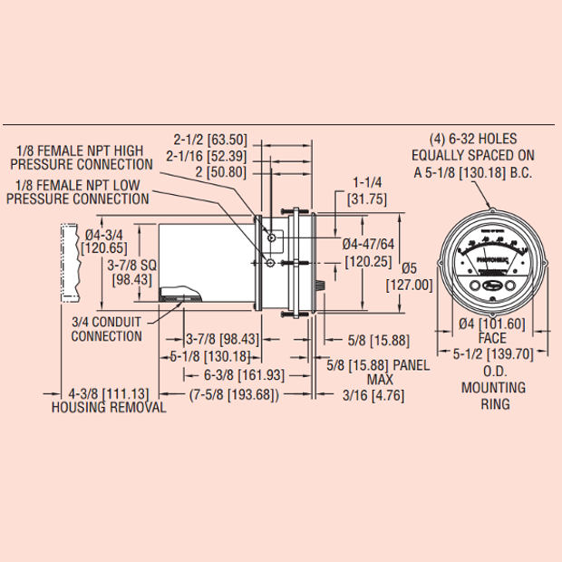Dwyer Photohelic A3000 Switchgauge