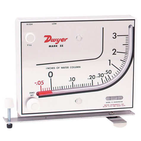 Dwyer Mark II Liquid Filled manometer