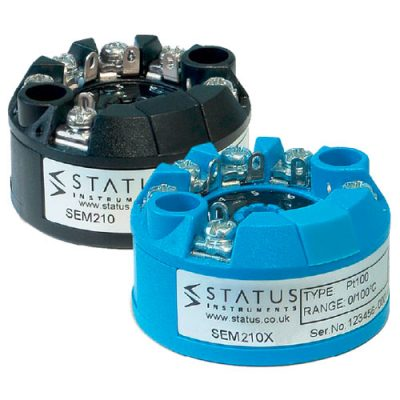 Status SEM210 and SEM210X temperature transmitters